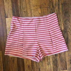Free People Pink Striped Pinup Style Shorts